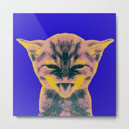 Pop Art Kitten 1 Metal Print