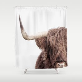 Highland Cow Portrait Shower Curtain