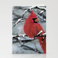 cardinal Stationery Cards featuring Cardinal by Ben Geiger