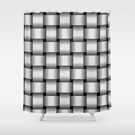 Large Pale Gray Weave Shower Curtain