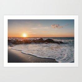 Breathtaking sunset Art Print
