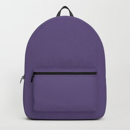 Grape Jam Dark Purple Solid Color Pairs To Sherwin Williams African Violet SW 6982 Backpack