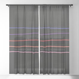Abstract Retro Stripes #4 Sheer Curtain