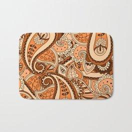 African Pattern No22 Brown Bath Mat