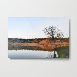 Tree on Horseshoe with Golden Hills Metal Print