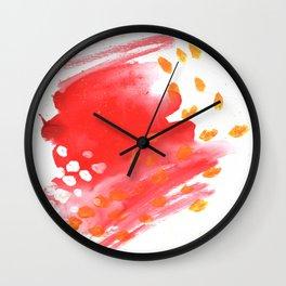Melt Abstract Watercolor Wall Clock