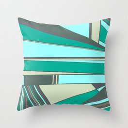 Triangles and Stripes Throw Pillow