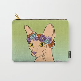 Flower Crown Sphynx Carry-All Pouch