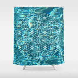 Flower of life in the water Shower Curtain