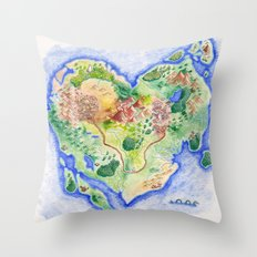 Island of Love Throw Pillow