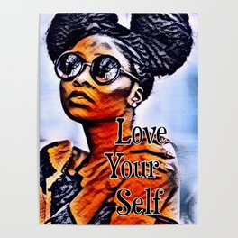 Love Your Self African American Black Woman Poster