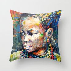She - portrait of a beautiful woman Throw Pillow