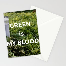 Green is my Blood Stationery Cards