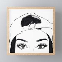 GIRL-FACE-DRAW Framed Mini Art Print