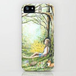 Forest Meditation iPhone Case