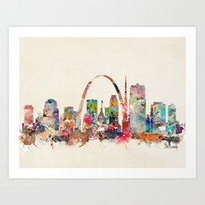st louis missouri Art Print