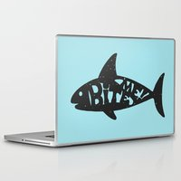 shark Laptop & iPad Skins featuring SHARK! by Dylan Morang
