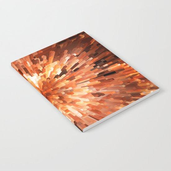 Orange Burst Notebook