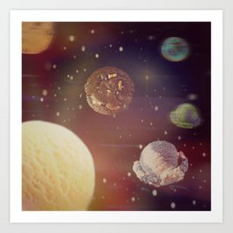 Planets of the ice shapes galaxy Art Print