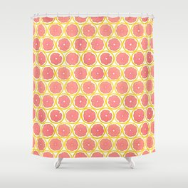 Fruit of the Day: Grapefruit Shower Curtain