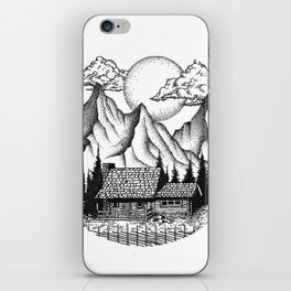 Mountain cabin iPhone Skin