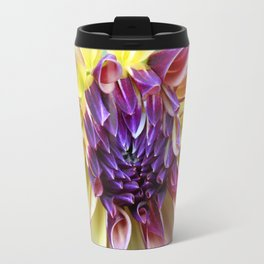 Purple and Yellow Dahlia Travel Mug