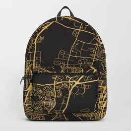 ALBUQUERQUE NEW MEXICO GOLD ON BLACK CITY MAP Backpack