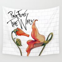 floyd Wall Tapestries featuring Pink Floyd The Wall by DreamBeyondArt