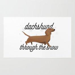 Dachshund Through the Snow Rug