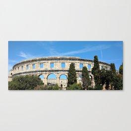 pula croatia ancient arena amphitheatre Canvas Print