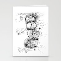 putin Stationery Cards featuring Kuba by Andreas Derebucha