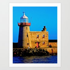 Howth Lighthouse Morning Art Print