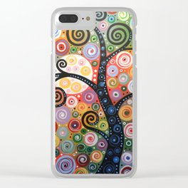 Abstract Art Landscape Original Painting ... Dreaming of Magic Clear iPhone Case