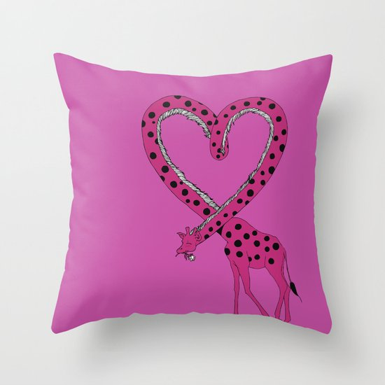 I'm in love Throw Pillow