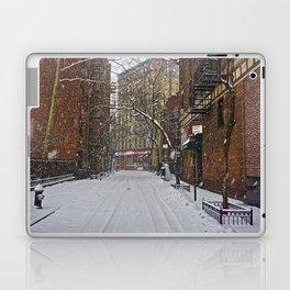 Snowy street Greenwich Village NYC Laptop & iPad Skin
