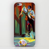 dodgers iPhone & iPod Skins featuring The Showdown by Travis Clarke