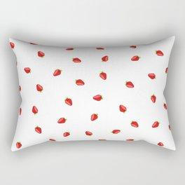 Strawberry Artwork Rectangular Pillow