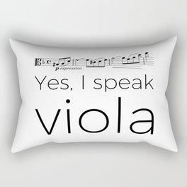 Yes, I speak viola (Glinka) Rectangular Pillow