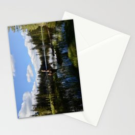mosquito lake in vertical stripes Stationery Cards