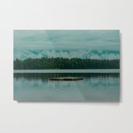 Scandinavian Lake Metal Print
