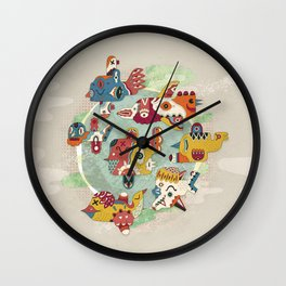 The other side of another sun Wall Clock