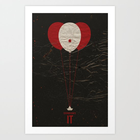 Pennywise the Clown - Stephen King's IT Inspired vintage movie poster Art Print