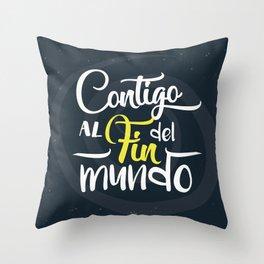 Contigo_frase Throw Pillow