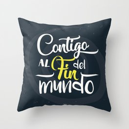 Contigo_frase Throw Pillow