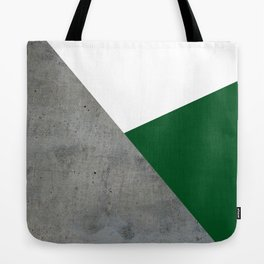 Concrete Festive Green White Tote Bag