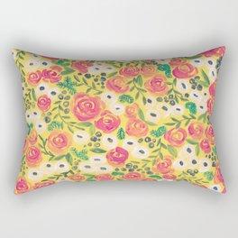 Minnie (Painted Flower Pattern) Rectangular Pillow