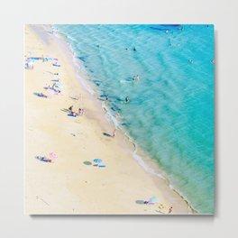 Aerial  Beach Metal Print