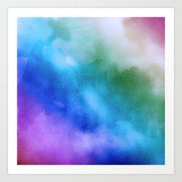 Watercolor Rainbow Mixed Media Art Print
