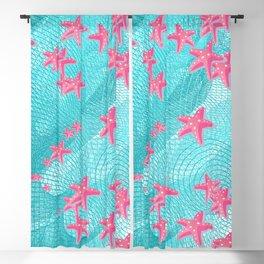 Pink starfish Blackout Curtain