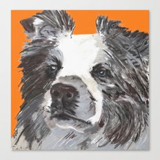 Border Collie printed from an original painting by Jiri Bures Canvas Print